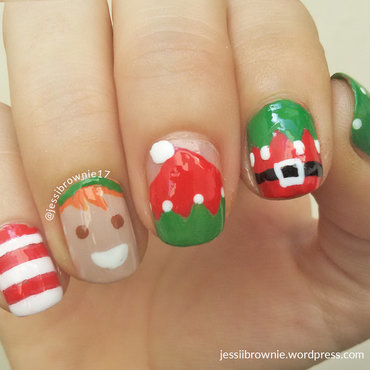 Elf Nails nail art by Jessi Brownie (Jessi)