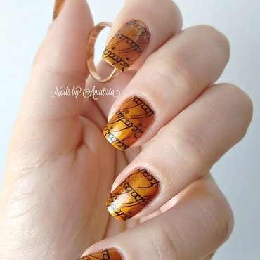 The One Ring nail art by Daniela