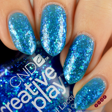 CND Turquoise Tidings Swatch by Becca (nyanails)
