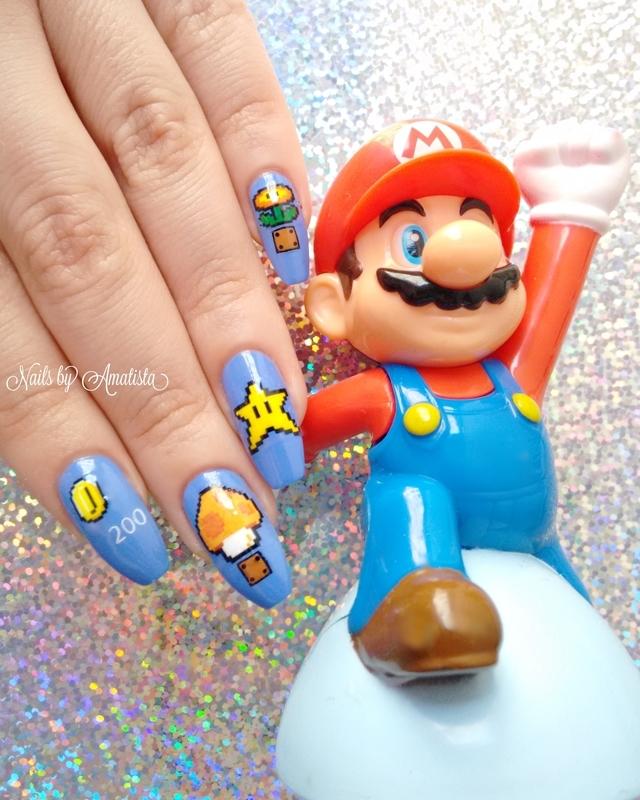 Mario Bros nails nail art by Daniela - Nailpolis: Museum of Nail Art
