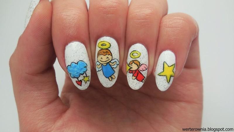 Angels nail art by MaliNaila