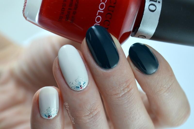 Holly Bush Christmas Nails nail art by Furious Filer