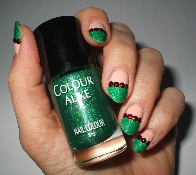 Christmas french nail art by only real nails. - Nailpolis: Museum of ...