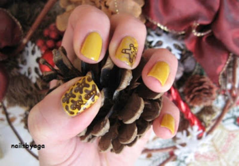 Gingerbread nail art by agazar30
