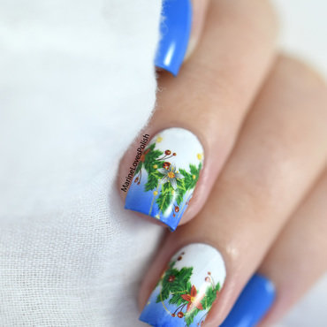 What s up nails poinsettia garland p047 water decals 20 2  thumb370f