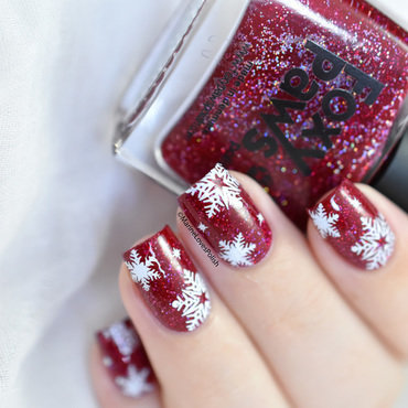 What s up nails a014 snowflakes nail art thumb370f
