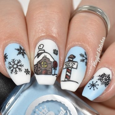 Christmas Gingerbread Nails nail art by Playful Polishes