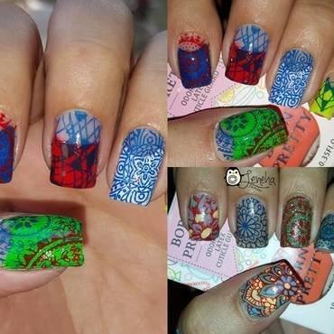 Stamping Nails nail art by Leneha Junsu