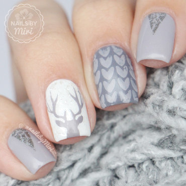 Winter Nail Art nail art by xNailsByMiri