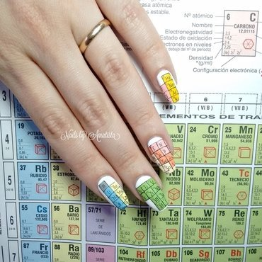 Periodic table nail art by Daniela