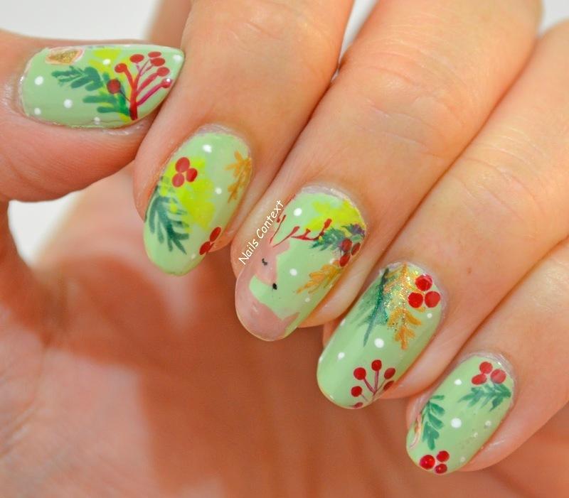 Holiday Cheer nail art by NailsContext