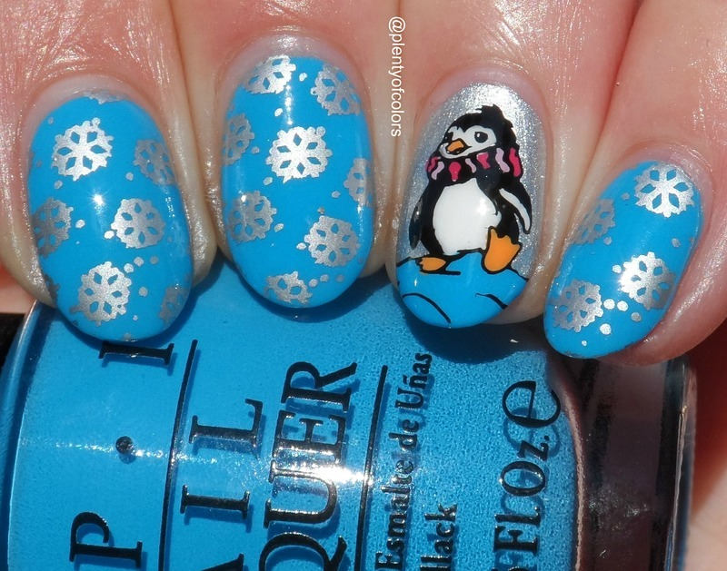 #paintintochristmas Schnee nail art by Plenty of Colors