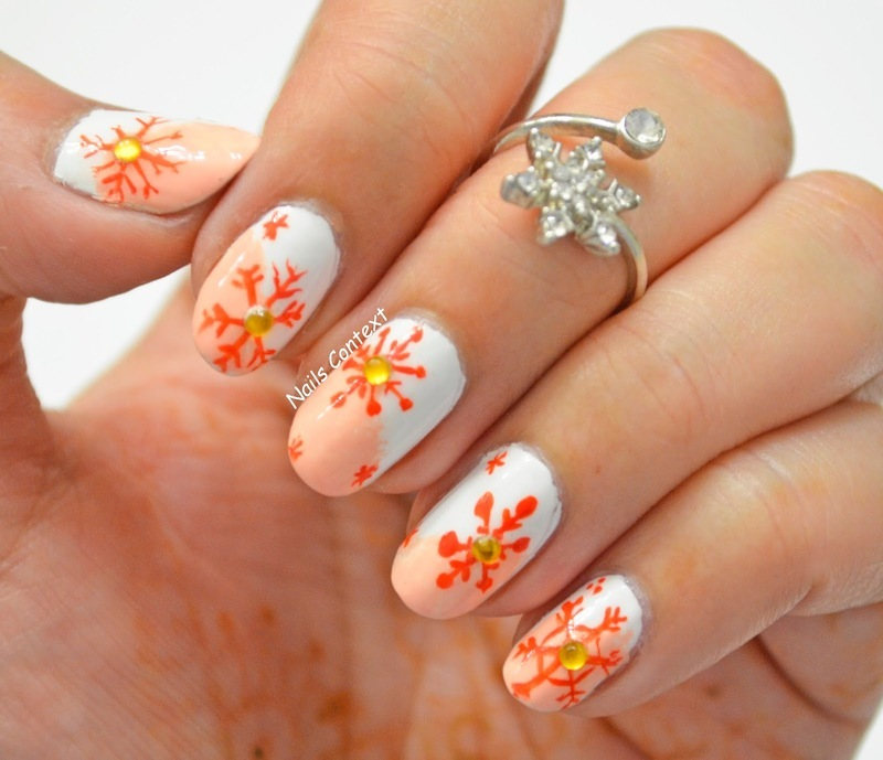 Baby It's Cold Outside  nail art by NailsContext