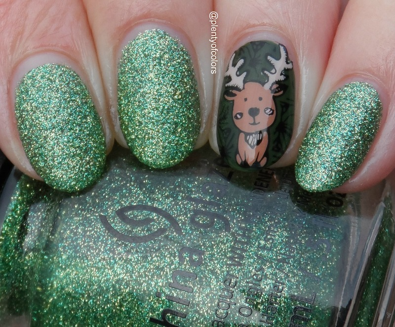 #paintintochristmas Rentier nail art by Plenty of Colors
