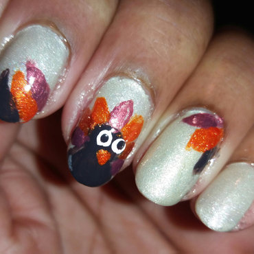 Thanksgiving nail art by Jackie Bodick