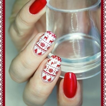 X-mas time nail art by ELIZA OK-W
