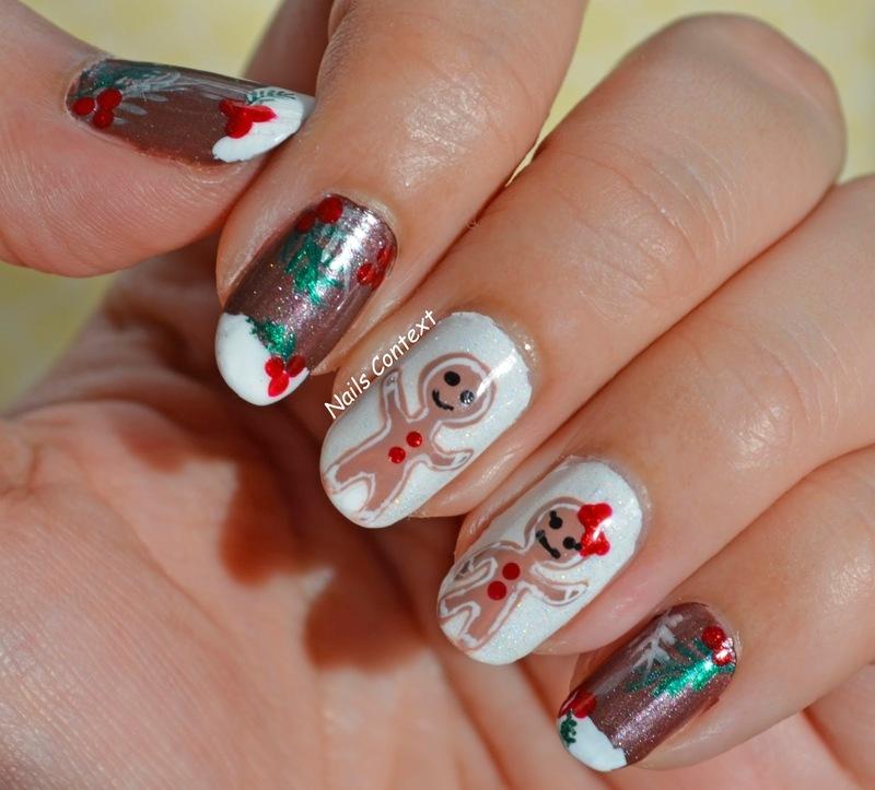 Gingerbread Man  nail art by NailsContext