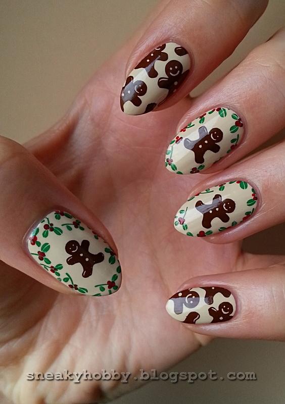 Last Minute Gingerbread Cookies nail art by Mgielka M