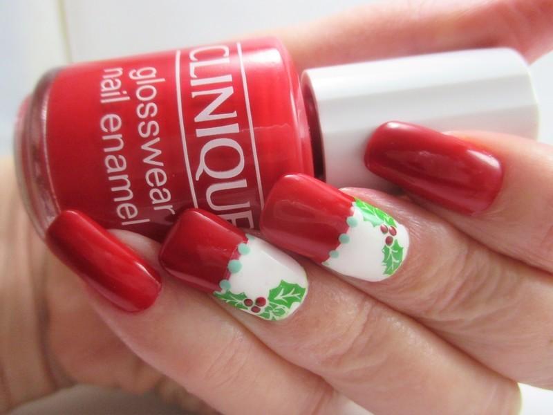Holly Jolly nail art by NinaB
