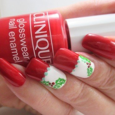 Holly Jolly nail art by NinaB