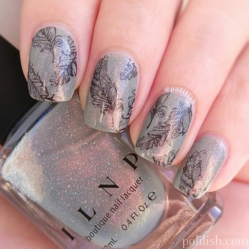 Feather nail art nail art by polilish