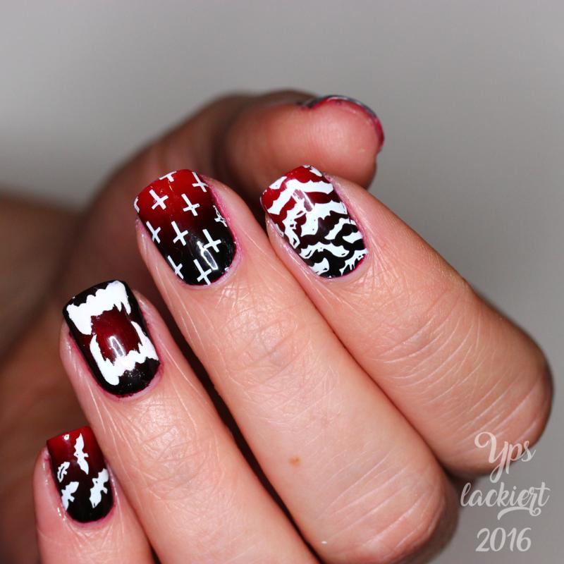 Tanz der Vampire nail art by die Yps lackiert