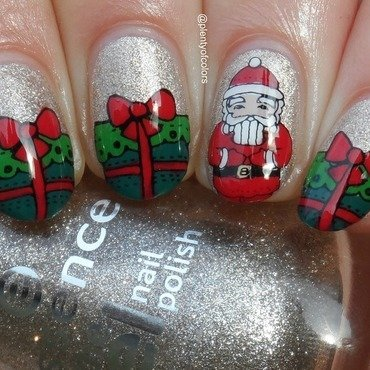 #paintintochristmas Christmas nail art by Plenty of Colors