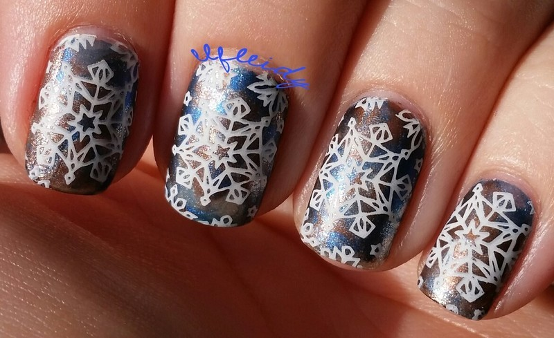 Stamped #smooshynailsunday 12-11-2016 nail art by Jenette Maitland-Tomblin