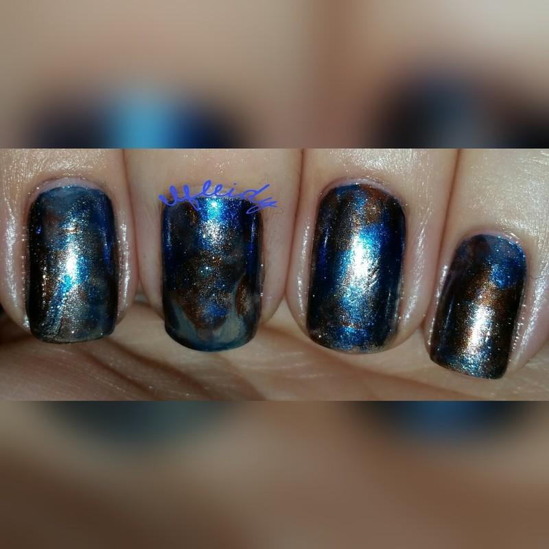 #smooshynailsunday 12-11-2016 nail art by Jenette Maitland-Tomblin