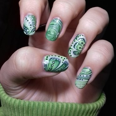 Watermarble mix nail art by 9Sh4DeSOfBl4ckBooD