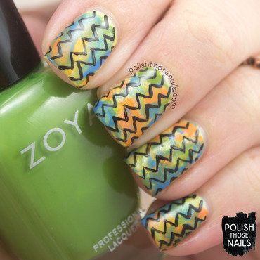 Zoya retro smoosh zig zag pattern nail art 4 thumb370f