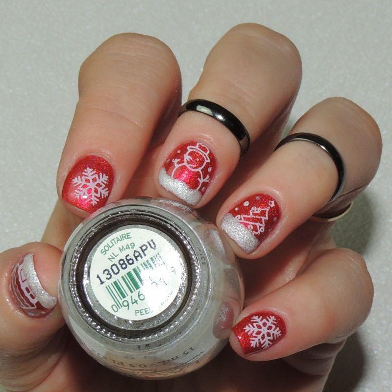 Joyeux Nouyel ! nail art by Ka'Nails