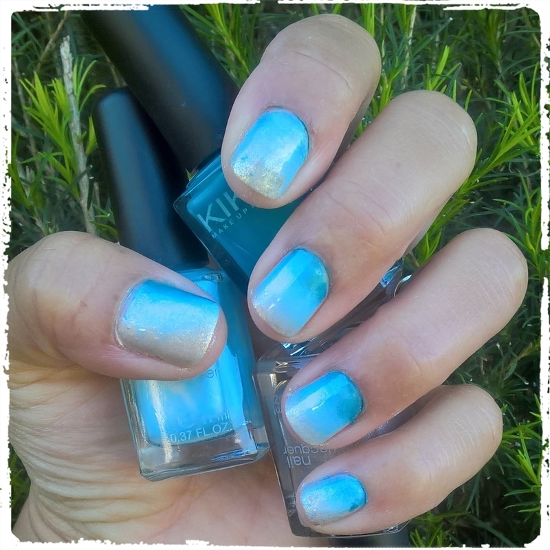 Ombré for Beach Theme Manicure nail art by Avesur Europa
