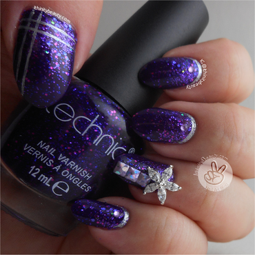 Purple Glitter Birthday Collaboration Nail Art nail art by Ithfifi Williams