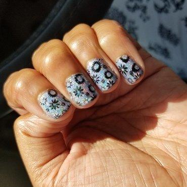 Spring time Sparklers nail art by Alyssa Zamiska