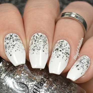 Simple New Years Nail Art nail art by Playful Polishes
