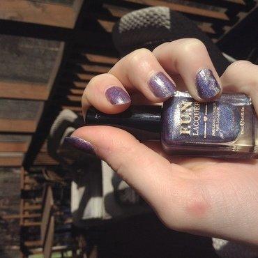 Hidden Holo Chevron nail art by HoloItsKas
