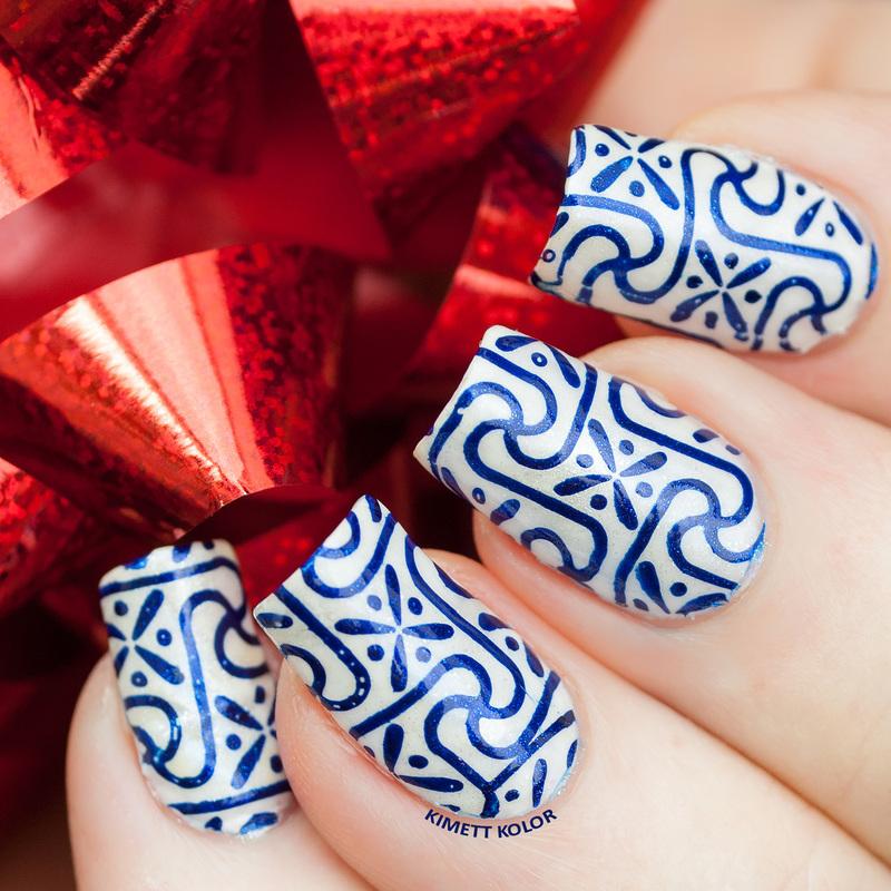 Wrapping Paper Nails nail art by Kimett Kolor