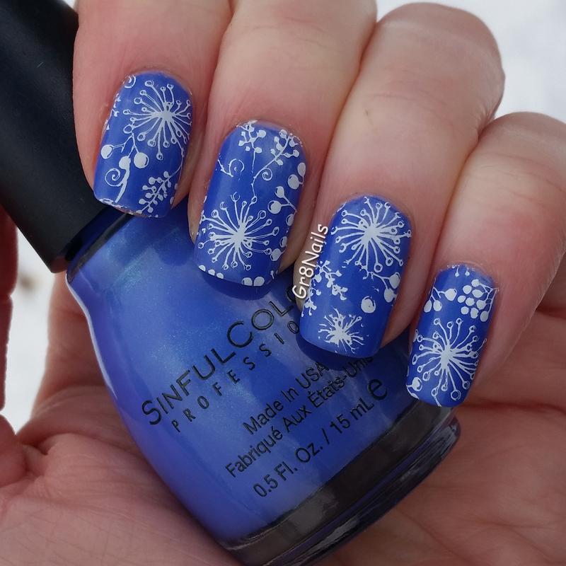 nail stamping nail art by Gr8Nails