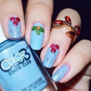 Mistletoe nail art by ℐustine