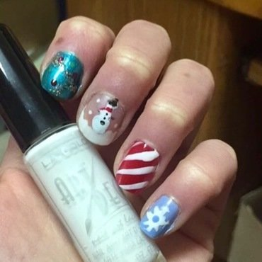 Holiday Nails nail art by Monica