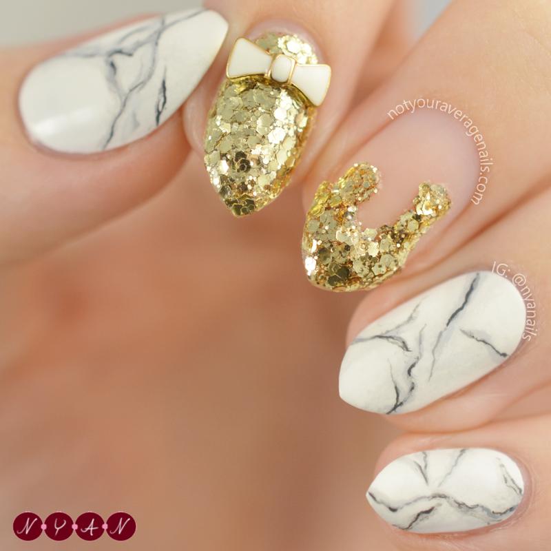 Rock at the Top nail art by Becca (nyanails)