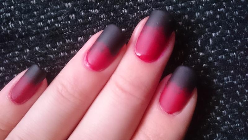 Rasberry, liquorice candy nails nail art by Sabina Salomonsson