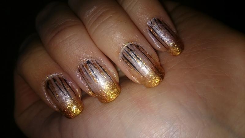Glam nailart  nail art by Sabina Salomonsson