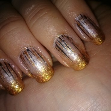 Glam nailart  nail art by Sabina Salomonsson