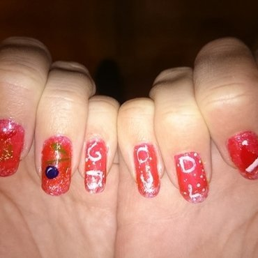 Christmas nailart  nail art by Sabina Salomonsson