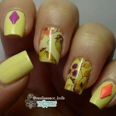 yellow nail art by Isabella