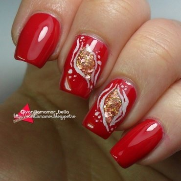 red nail art by Isabella
