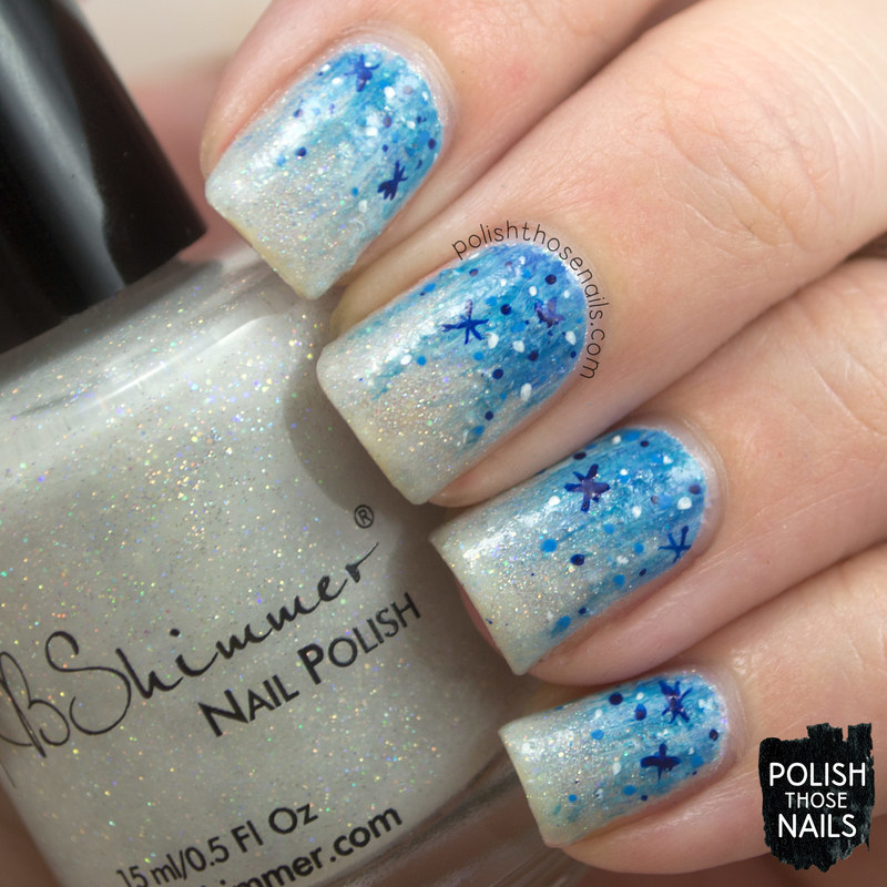 Yeti Sparkle Wonderland nail art by Marisa  Cavanaugh