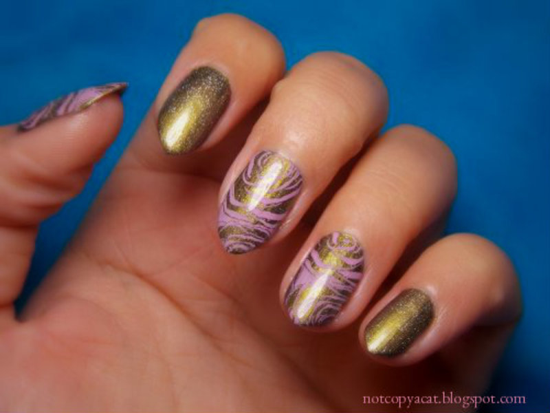 Abstract  nail art by notcopyacat